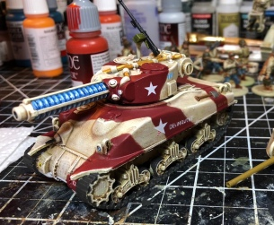 Painting Guide: Camouflaged M4A9-T Sherman Tesla Tank