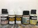 Pigments and washes used on the tracks and wheels.